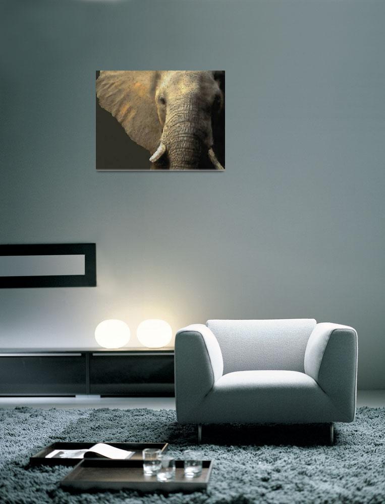 """""""Elephant Portrait - Pastel""""  (2009) by aart2000"""