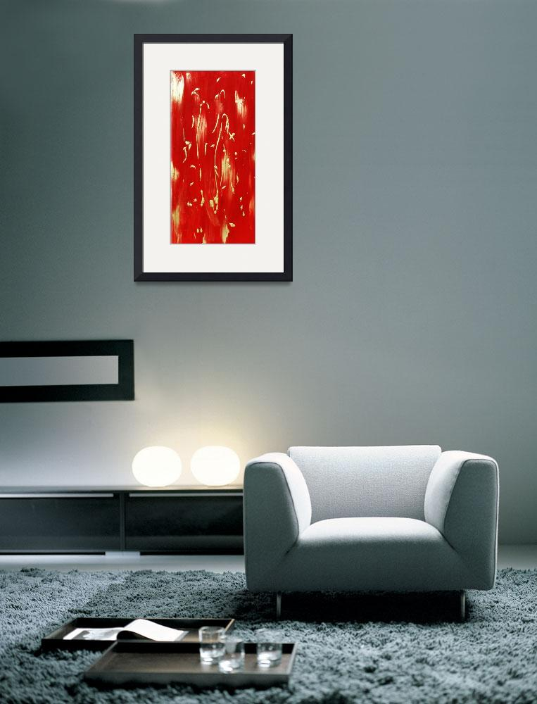 """""""Red Abstract&quot  by LittleArtsyShop"""