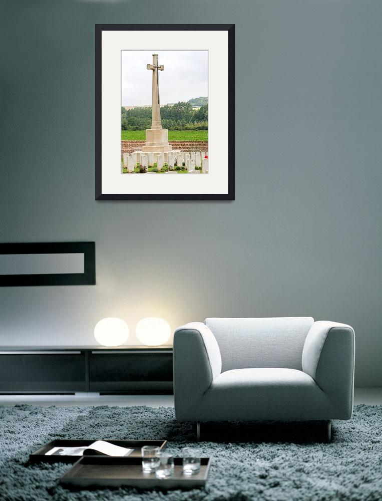 """""""Cross of Sacrifice at Heilly cemetery""""  by Dalyn"""