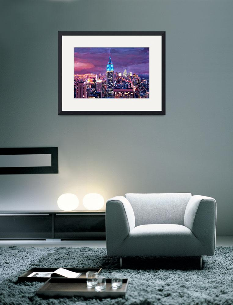 """""""Empire State Building Feeling Like A Blue Giant&quot  (2012) by arthop77"""