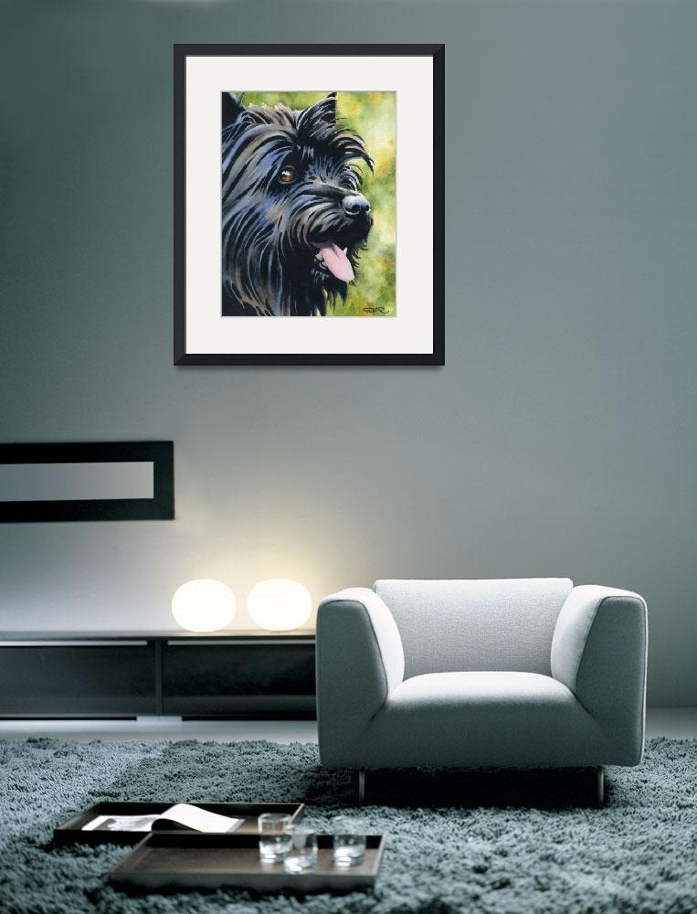 """Black Cairn Terrier&quot  (2015) by k9artgallery"
