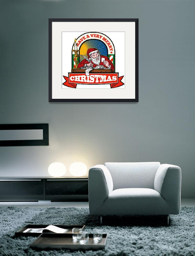 """""""Santa Claus Father Christmas Writing Letter&quot  (2012) by patrimonio"""