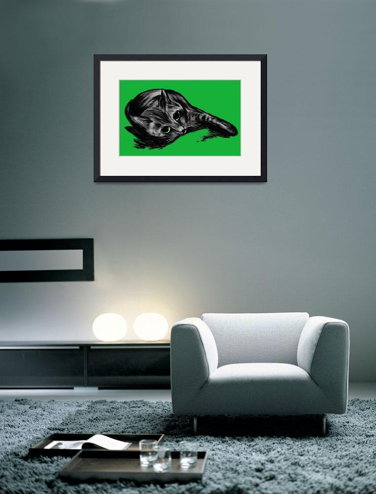 """""""Cacina the Cat Lounges&quot  (2011) by jimhubel"""