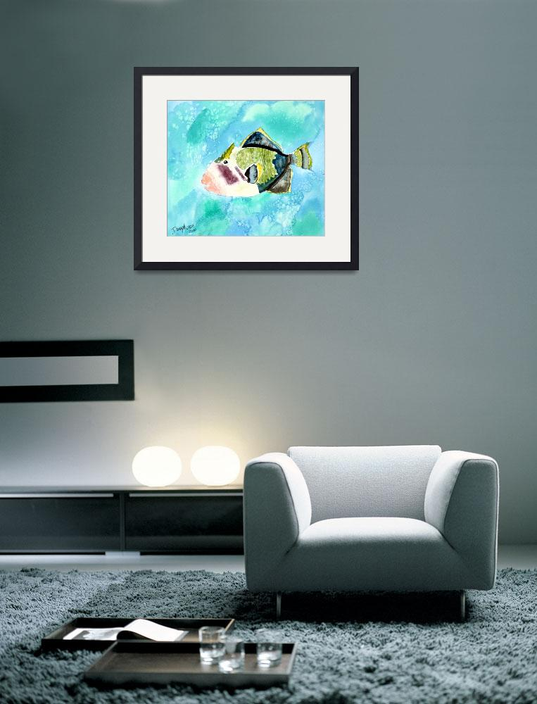 """trigger fish aquatic art print""  (2010) by derekmccrea"