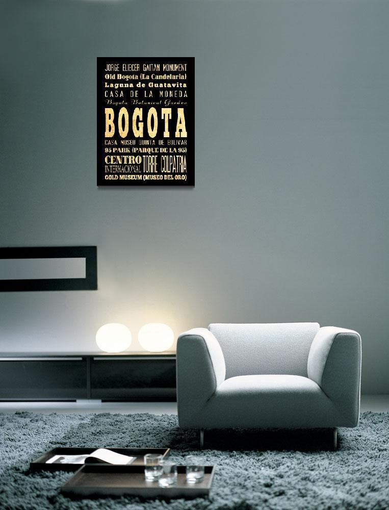 """LHA-376-AG-EU-BOGOTA-COLOMBIA-Raw-18X24 copy""  by JoyHouseStudio"