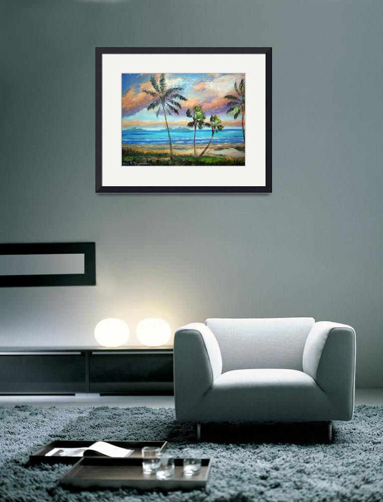 """Tropical Island Beach Painting&quot  (2011) by mazz"