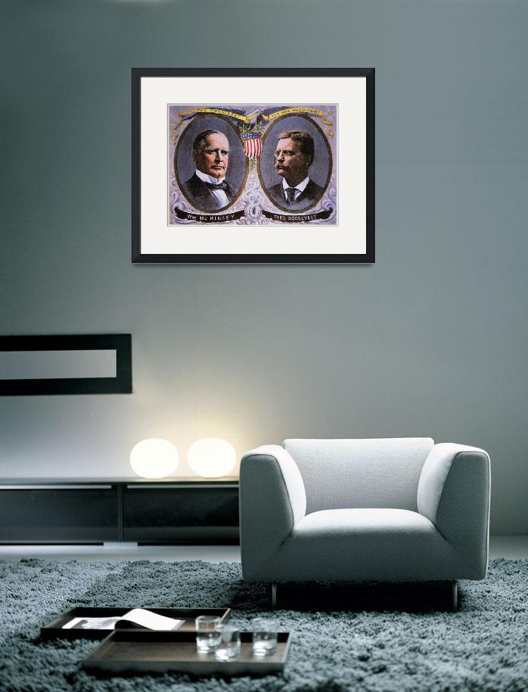 """""""Campaign Poster for McKinley and Roosevelt&quot  by fineartmasters"""