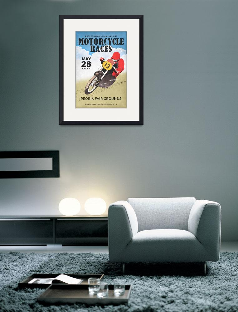 """""""Motorcycle Races Peoria&quot  by mark-rogan"""