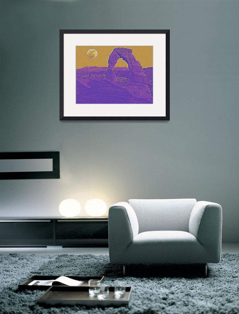 """""""arches national park travel poster 3&quot  by motionage"""