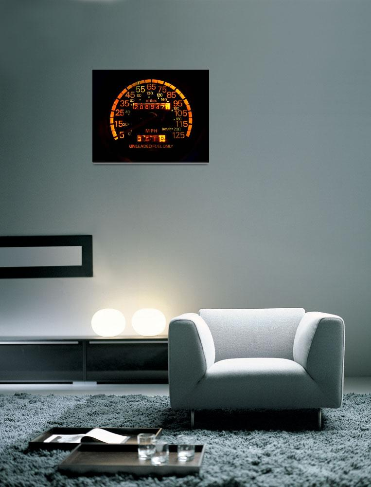 """""""Speedometer night view&quot  (2009) by hapyday"""