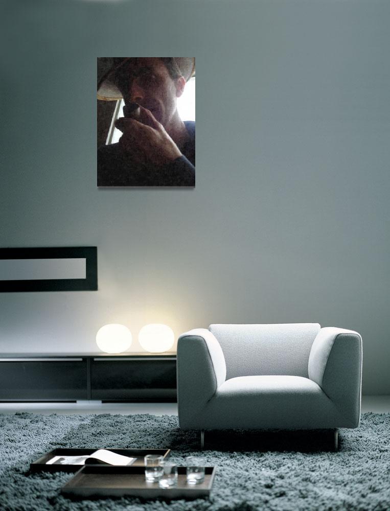 """Mr laubin smokes oil""  (2010) by LaurentAubin"