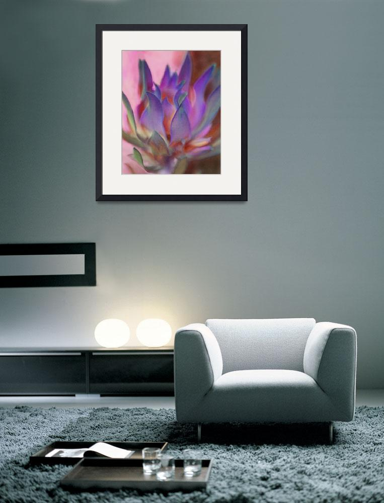 """""""Flaming Protea in Pink and Purple&quot  (2011) by SherylKaras"""