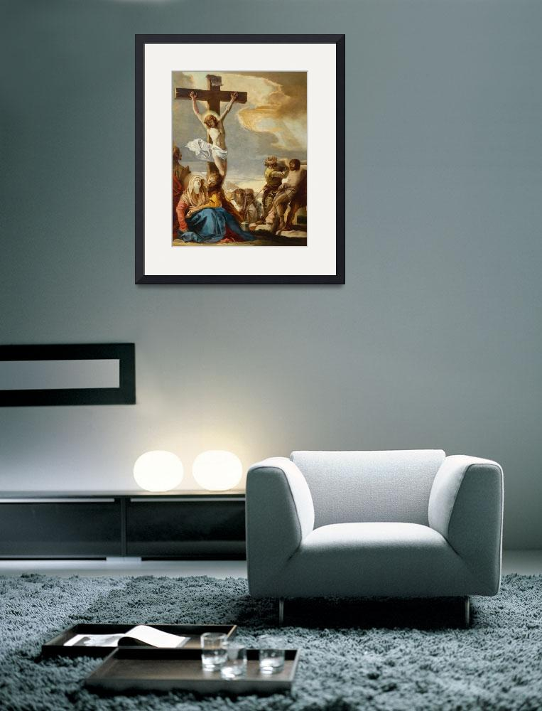 """""""Christ Crucified, Stations of the Cross, 1747&quot  by fineartmasters"""