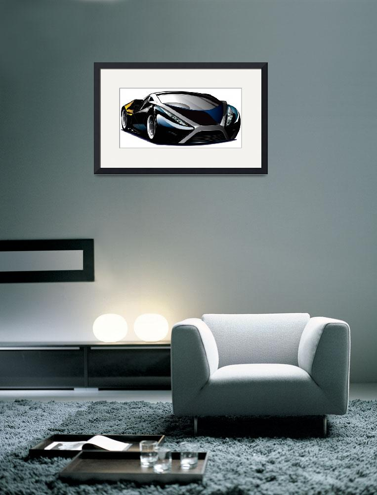 """""""Cool car vector&quot  (2010) by Brian_Gibbs"""