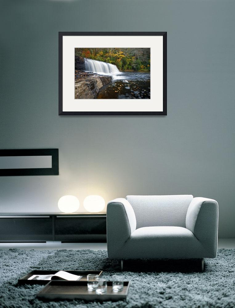 """""""Hooker Falls in Autumn - Fall Foliage in Dupont St&quot  (2011) by DAPhoto"""