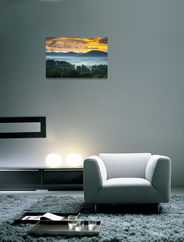 """Asheville NC Blue Ridge Mountains Sunset - Welcome&quot  (2012) by DAPhoto"
