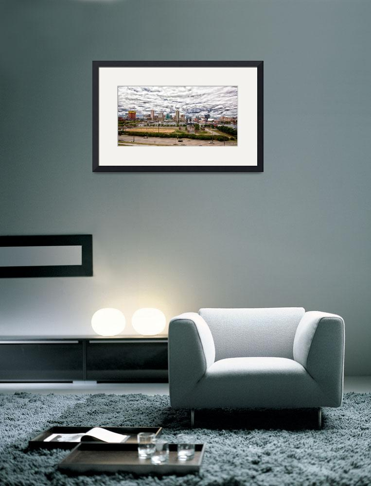 """""""Baltimore Inner Harbor Panorama with Clouds&quot  by travel"""