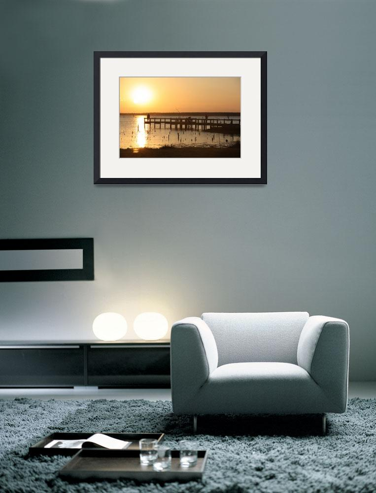 """""""Lake Monticello at Sunset 2""""  (2010) by NoteworthyStudio"""