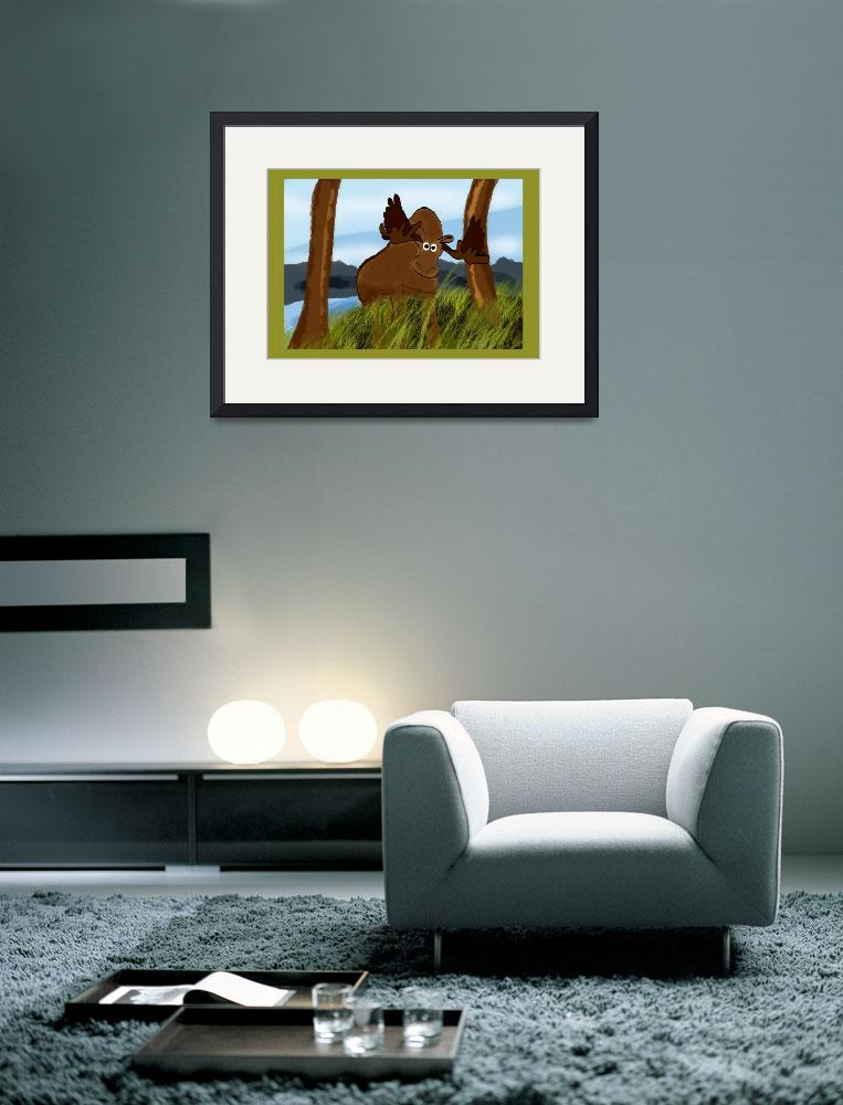 """""""Moose Painting&quot  (2008) by haydiz"""