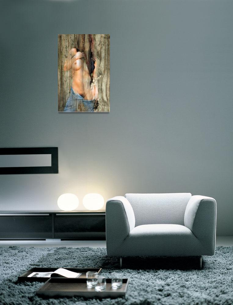 """Nude on nervous board""  (2014) by korcysart"