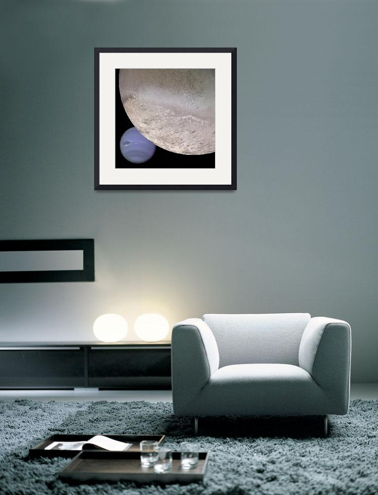 """""""Triton with Neptune in Background&quot  by ArtLoversOnline"""