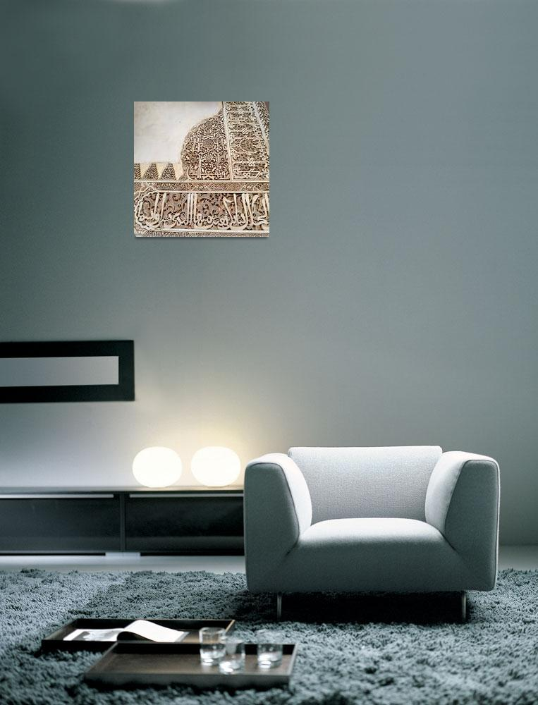 """Alhambra Wall Square""  (2013) by KsWorldArt"