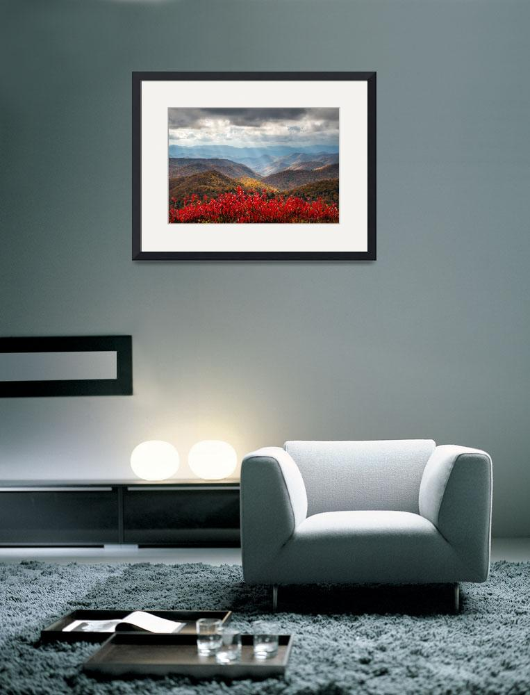 """Blue Ridge Parkway Fall Foliage - The Light&quot  (2012) by DAPhoto"