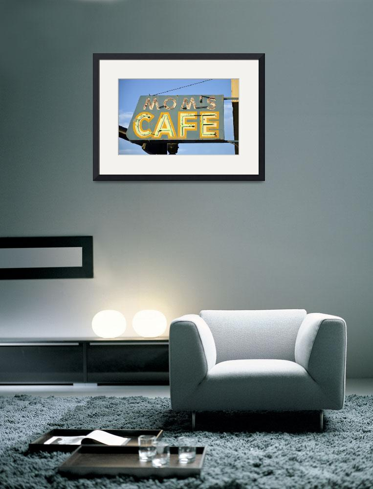 """Mom Cafe Neon Sign""  (2019) by cr8tivguy"