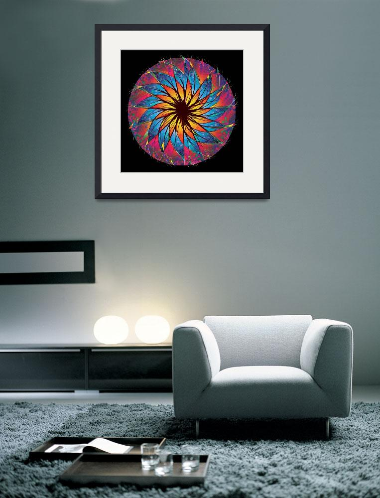 """""""Stained Glass Mandala&quot  (1998) by rjconway"""