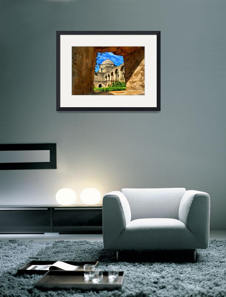 """""""Mission San Jose through Window&quot  (2009) by TomZimmer"""
