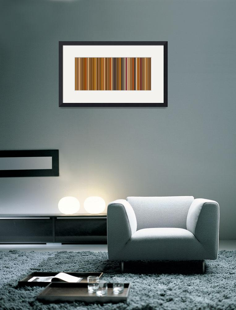 """""""Mocha Bean Stripes: Abstract&quot  by karynlewis"""