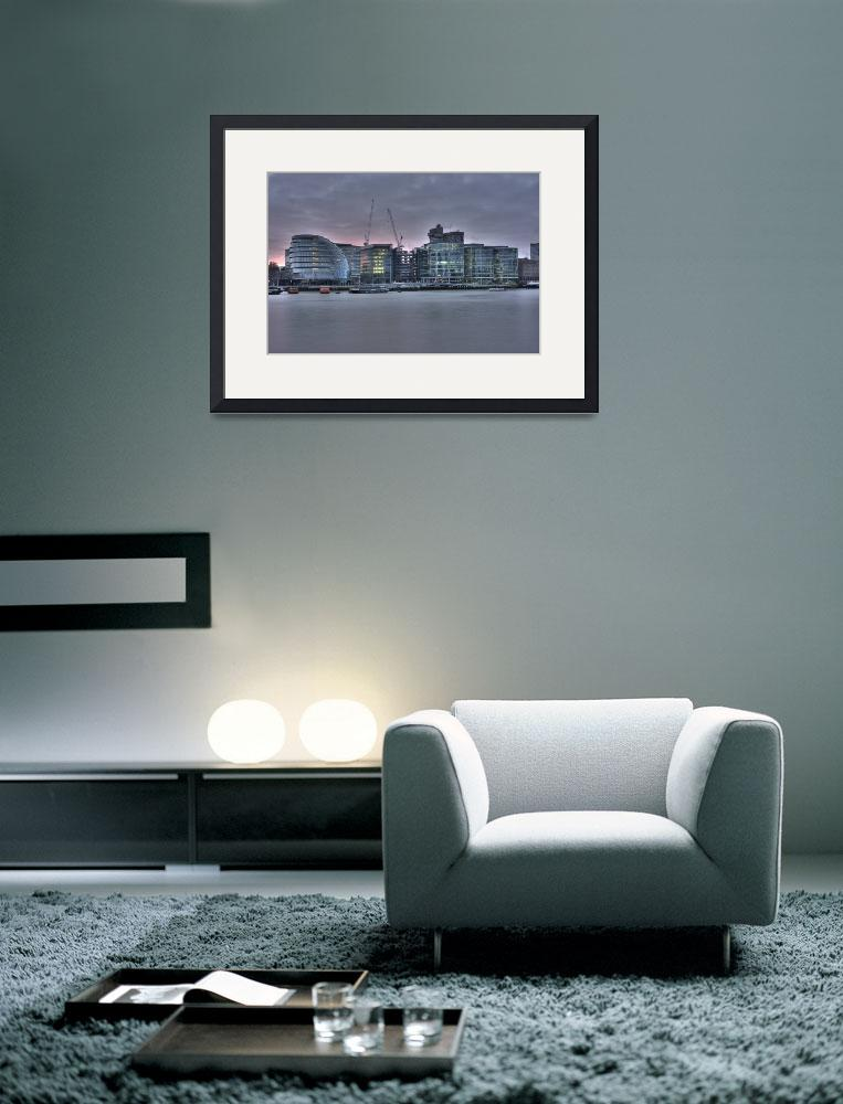 """""""London city hall at dusk&quot  (2009) by NOMIS"""