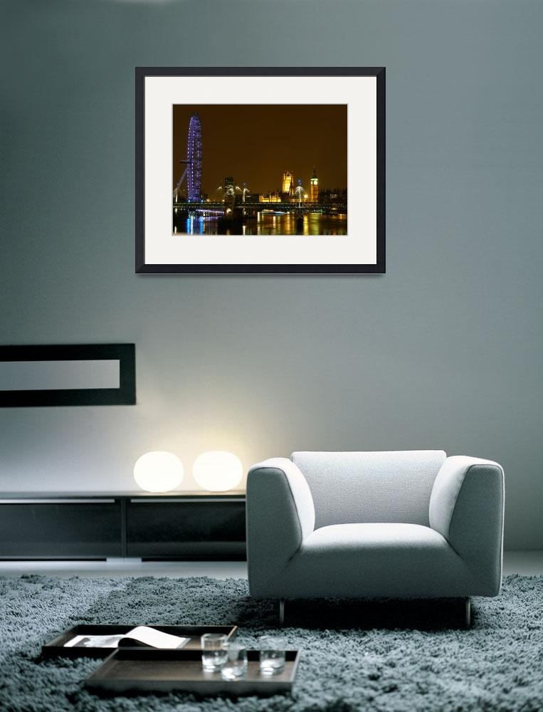 """""""London Eye at Night&quot  (2009) by raftergood"""
