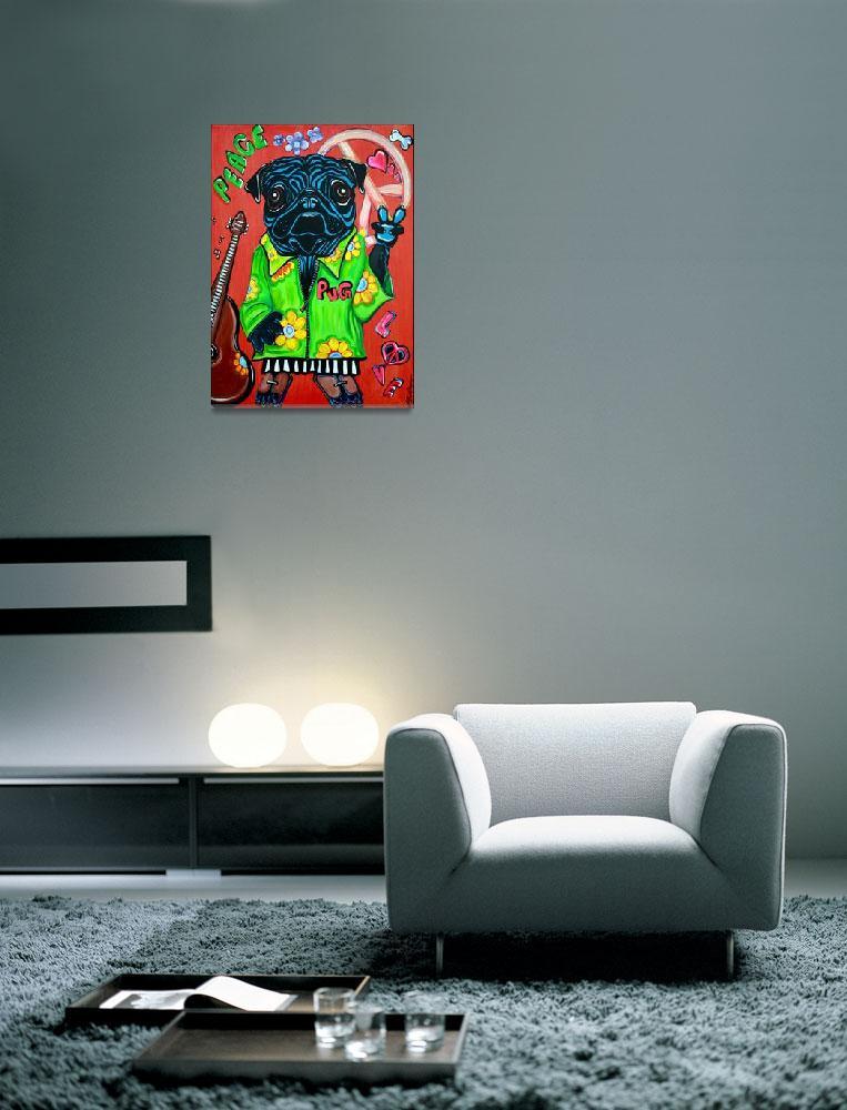 """Pugs Love Peace""  (2012) by ArtPrints"