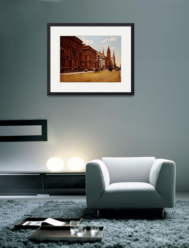 """""""Vintage Fifth Avenue NYC Photo-Print (1900)&quot  by Alleycatshirts"""