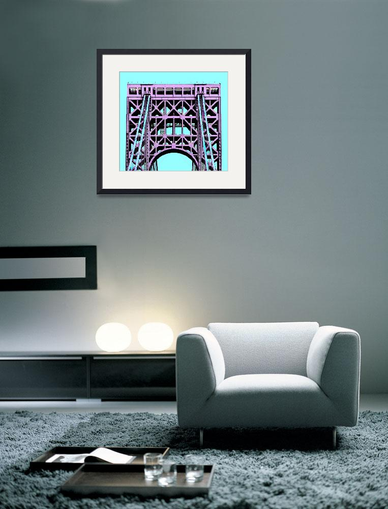 """George Washington Bridge Tower New York&quot  (2015) by WilshireImages"