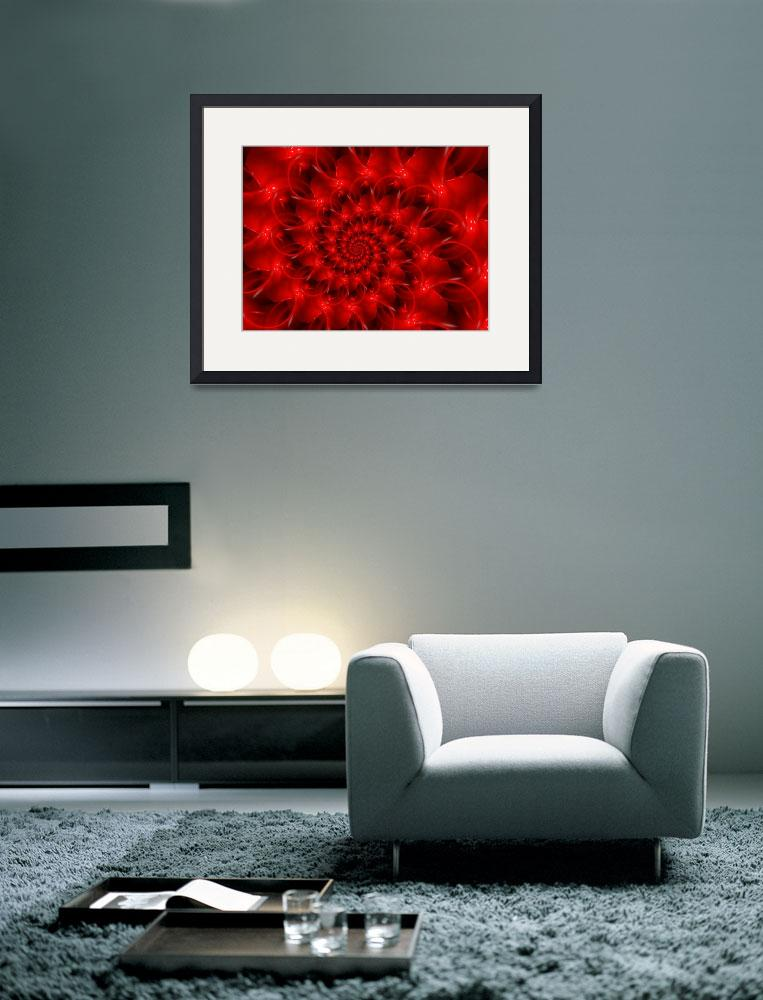 """""""Glossy Red Spiral Fractal&quot  (2013) by kittybitty"""