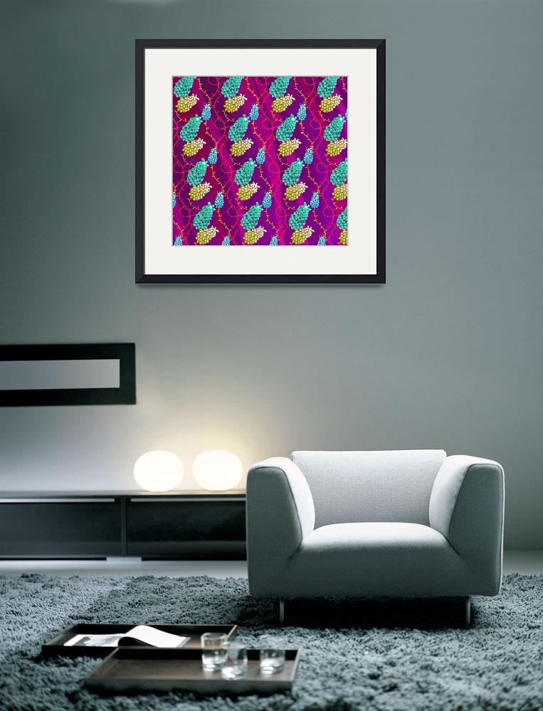 """""""Blue Bellflowers Pattern&quot  (2012) by MaryDolan"""