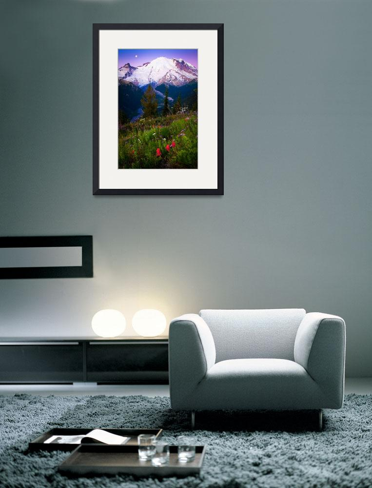 """Purple Dawn at Mount Rainier&quot  (2011) by Inge-Johnsson"