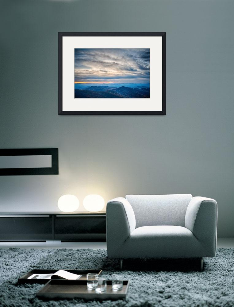 """""""sunset view over blue ridge mountains&quot  by digidreamgrafix"""