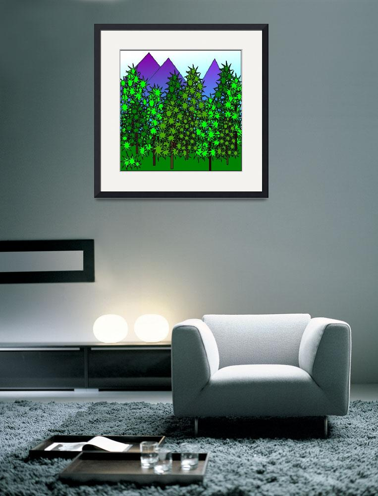 """""""Mountain and trees&quot  (2011) by debband"""