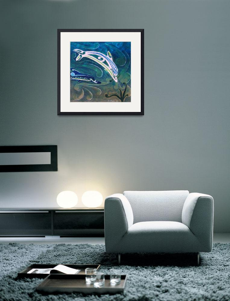"""""""Dolphins at play""""  (2010) by Desray"""