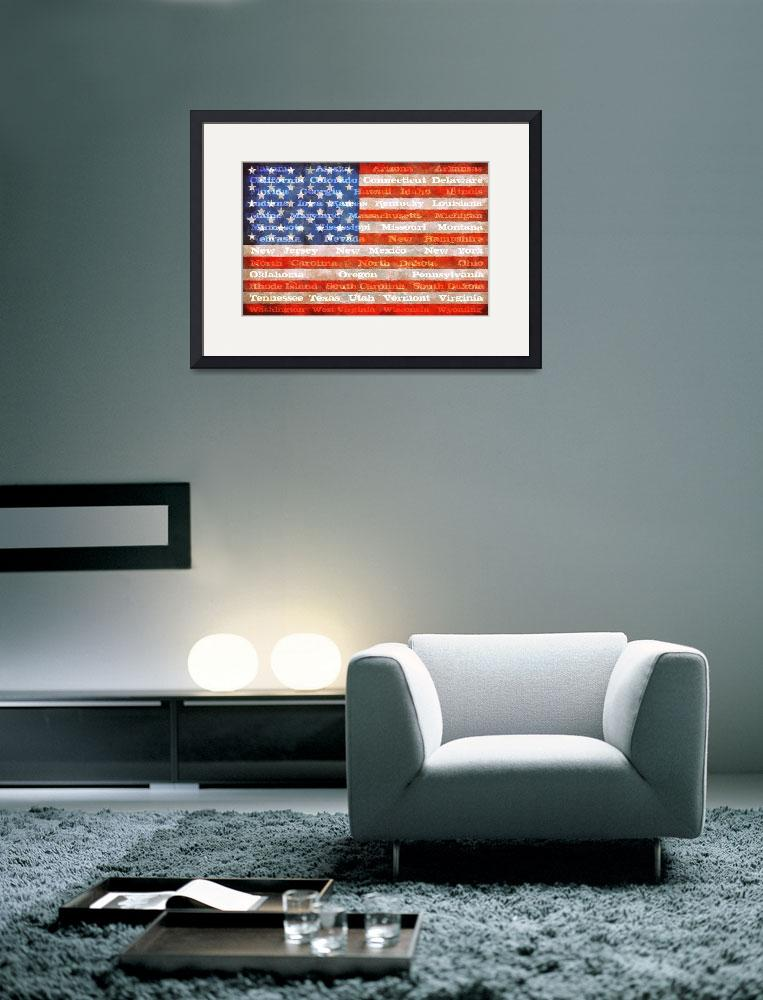 """American Flag with States&quot  (2012) by Michelle1991"