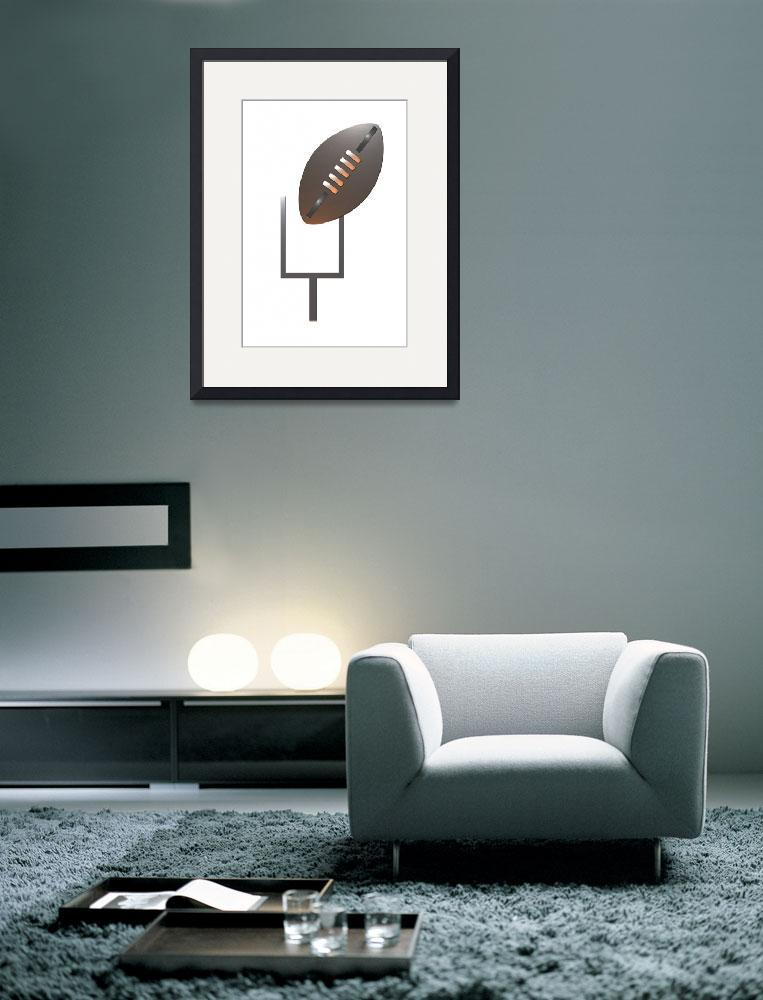 """""""american rugby football and goal post&quot  (2013) by patrimonio"""