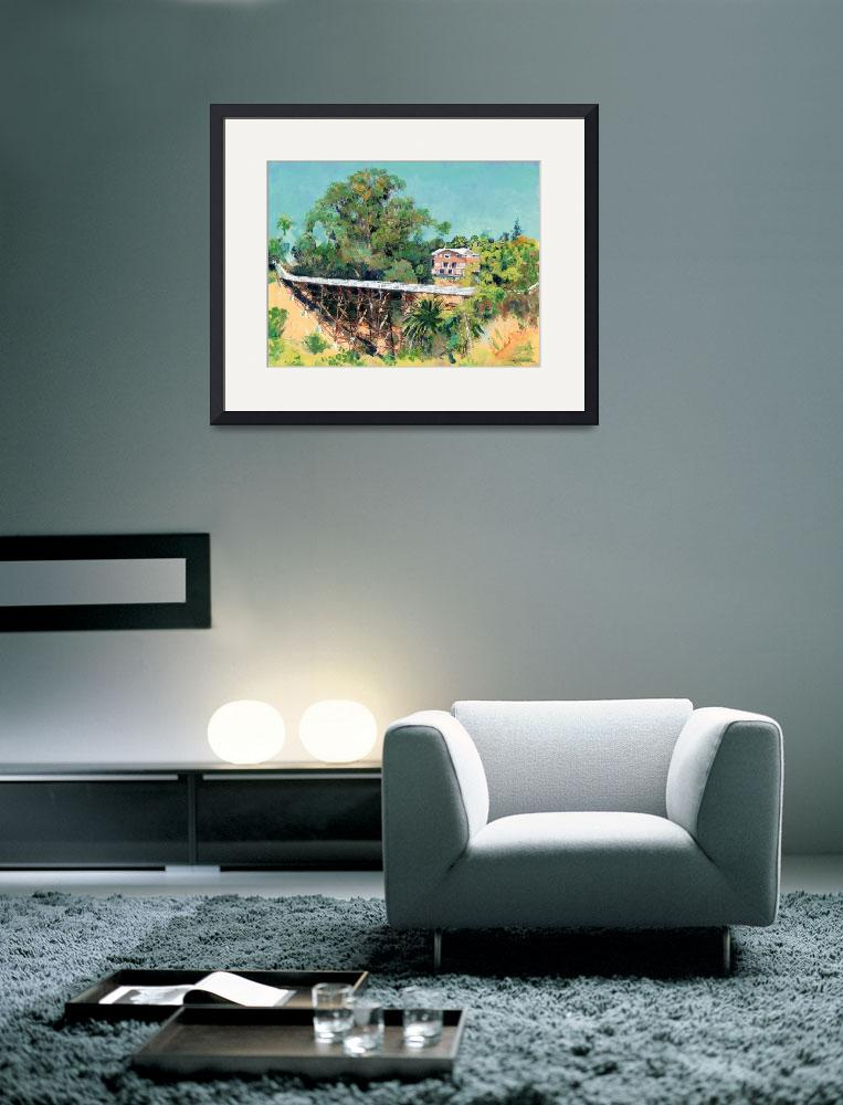 """Quince Street Bridge over Maple Canyon&quot  (2009) by RDRiccoboni"