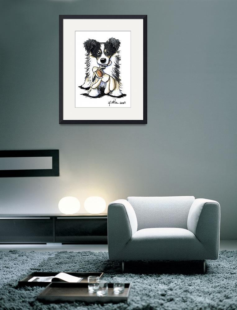 """""""Tri Color Border Collie&quot  (2009) by KiniArt"""
