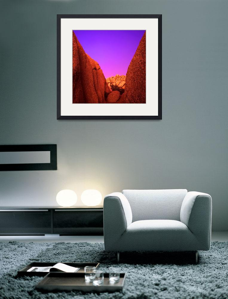 """""""""""Jumbo Rocks Afterglow""""&quot  (2002) by Uhlinger"""