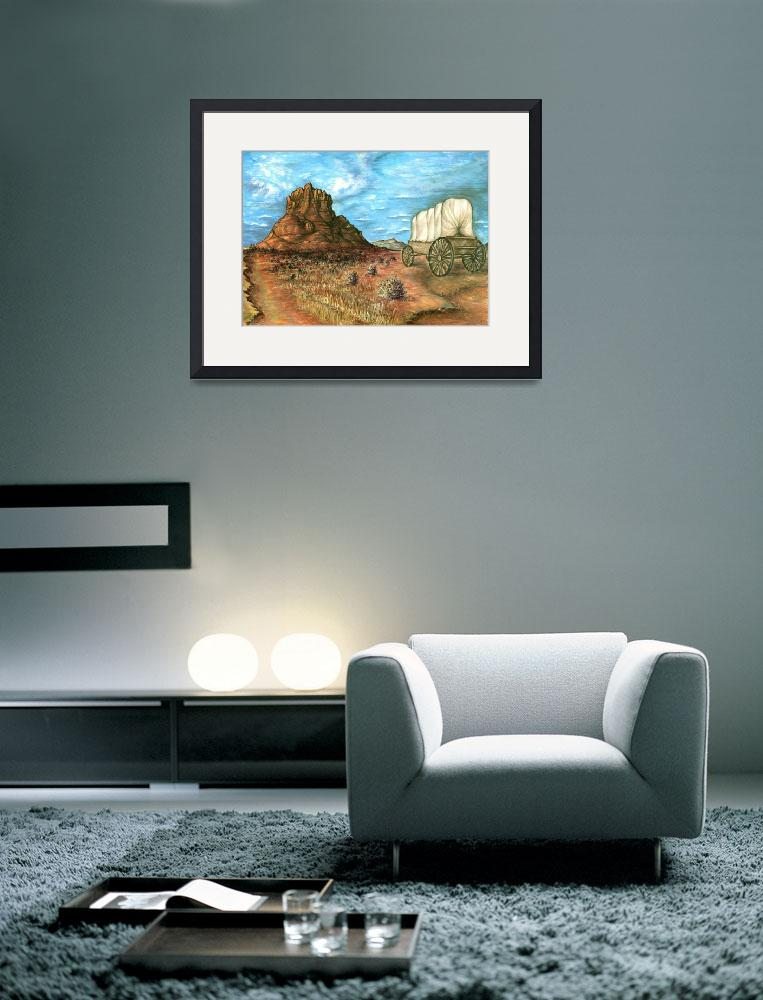 """Sedona Arizona - Western Art Painting&quot  (1996) by Art-America"