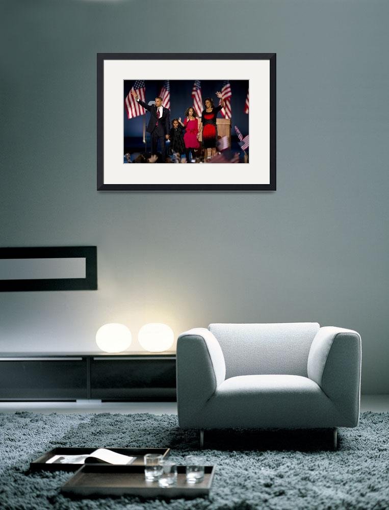 """""""Barack Obama and Family&quot  (2008) by hestoft"""