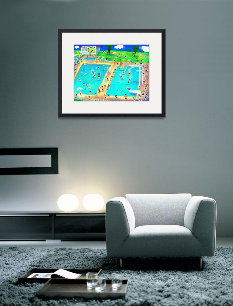 """""""Perrysburg Pool, 1957""""  (2012) by MichaelIves"""